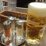 インド定食ターリー屋 - 生ビールと卓上セット