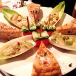 東洋酒家 - 宴会料理…スペイン風オムレツ⁇…アボカドの⁇…サーモンの⁇…w全て美味し❤︎