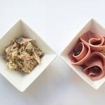 サルク カフェ - ごぼうサラダ&ボローニャソーセージ