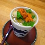 ひたち野いしざき - 海胆載せ茶碗蒸し H27.8