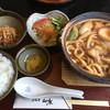 山本屋 - 料理写真:玉子入煮込みうどん定食(ランチタイム)1140円(2015.12)