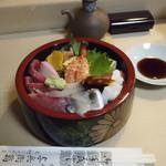 与兵衛鮨 - 東京スカイツリー近辺で食事処探しに迷いましたが、此処並のちらし寿司と握り寿司を注文して良かった。美味しかった。