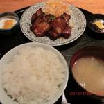 ろばた焼司 - 焼き豚定食 800円
