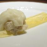 TAKAO - 料理写真:鱈、ポレンタ、キタアカリ