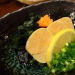 藤よし - ◆アンキモ(価格不明)・・アンキモらしい滑らかさに欠けるような・・しっかりした食感の品でした。 好みではないですね。