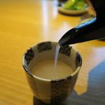 焔蔵 - 蕎麦湯