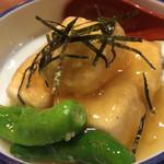 天山の湯 だいにんぐ - 揚げ出し豆腐の湯葉あんかけ