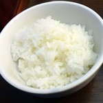 浅井食堂 - セットのライス