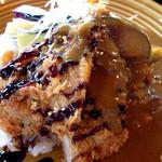 45540705 - 日替わりカレー 米澤豚のヒレカツ&ナスカレー 1280円 ご飯小盛り