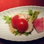 鉄板焼 黒田屋 - 蟹のサラダ