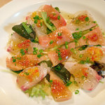 carbonara Aggi - 地物の真カジキ・桜鯛のカルパッチョ