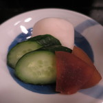 はま吉 - 奈良漬、胡瓜、カブの漬物アップ