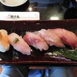 すし 銚子丸 - 料理写真:職人おまかせ鮮魚5貫セット