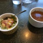 ブルボン - 料理写真:ランチ サラダ、スープ