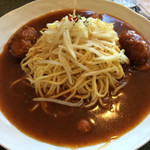 ブルボン - 料理写真:カキフライともやしのあんかけスパ