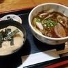 福杜 - 料理写真:鴨南蛮そばとトロロ御飯
