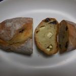 パーネ エ オリオ - レーズンとクリームチーズ 断面