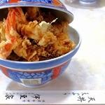 天丼 天ぷら 伊豆家 - 料理写真:収まっていませんがww