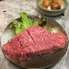 焼肉家牛車 - 料理写真:ミスジ 大きいです! 脂っぽすぎず美味しかったです。