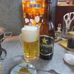 李朝園 - 瓶ビール追加
