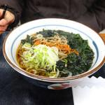 小田原パーキングエリア(下り線)スナックコーナー - ワカメそば400円