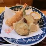 なか井 - 天ぷら野菜とエビ
