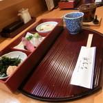 なか井 - 大将おまかせ定食(写真のおかず+ご飯+味噌汁+茶碗蒸し+漬物