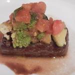 ダ イシザキ - 肉 那須黒毛和牛サーロイン 野菜乗せ
