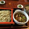粉名屋小太郎 - 料理写真:鴨南ざる一枚盛り1230円と花天丼630円