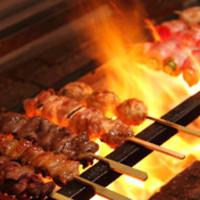 鳥取県産 大山鶏の串焼き