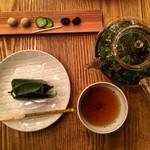 HIGASHIYA GINZA - 季節のお茶と和菓子セット1600円