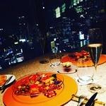 45828527 - 角のテーブル席からの夜景