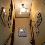 チャッツワース - 階段の途中には色々なお洒落な写真が張ってありました。これを見ながら登るのも楽しいですよ。