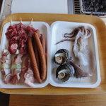 石州蟹番屋 - バーベキューにと、買い揃えた食材の一部です。