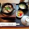 釜飯 はらき - 料理写真:季節限定「牡蠣釜めし」外税1700円(8%込1836円) 自家菜園で採れた無農薬野菜を浅漬けした香物も添えてあります。