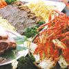 スーパービアホール - 料理写真:ビアバイキングのスペシャルメニュー:タラバ蟹or牛ロースステーキ