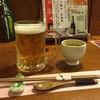ヤマト - ドリンク写真:速達生ビール500円とお通しの冷製茶碗蒸し