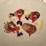 45901625 - 鯖のスモークと柿の前菜