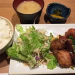 焼き鳥 あまやどり - ご飯は柔らかいから好き嫌いあるかも。