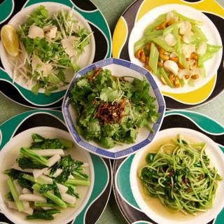 【種類豊富な野菜料理】女性も大満足