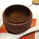 大阪 聘珍樓 - 薬膳ランチ3800円②スープ。変わった味だけどとっても美味しい!身体に良さそう