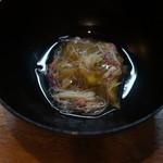 天ぷら たけうち - 焼きなすの毛ガニあんかけ