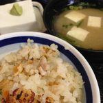 つくも食堂 - ごま豆腐・味噌汁・釜めし 2015.12.06