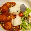 タワーレコードカフェ - 料理写真:スヌーピーのハッシュドビーフ with ミートボール (¥1,500)