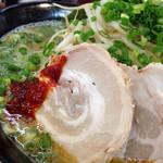 拉麺 空海 - 緑豚骨ラーメン(680円)を頂きました。