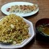 鴻福軒 - 料理写真:カレーチャーハンと餃子