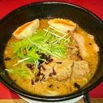 301餃子 - 海老みそラーメン+半熟味玉