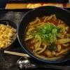カレーうどん せんきち - 料理写真:黒カレーうどん+キャベ千(15-12)