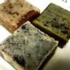 豆園 茶寮 - 料理写真:黒豆きんつば、抹茶きんつば、芋きんつば