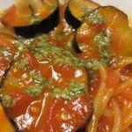 自家製生パスタ 自家製ソーセージ竹井屋 - ナスとモッツァレアチーズのトマトソース バジルの香り